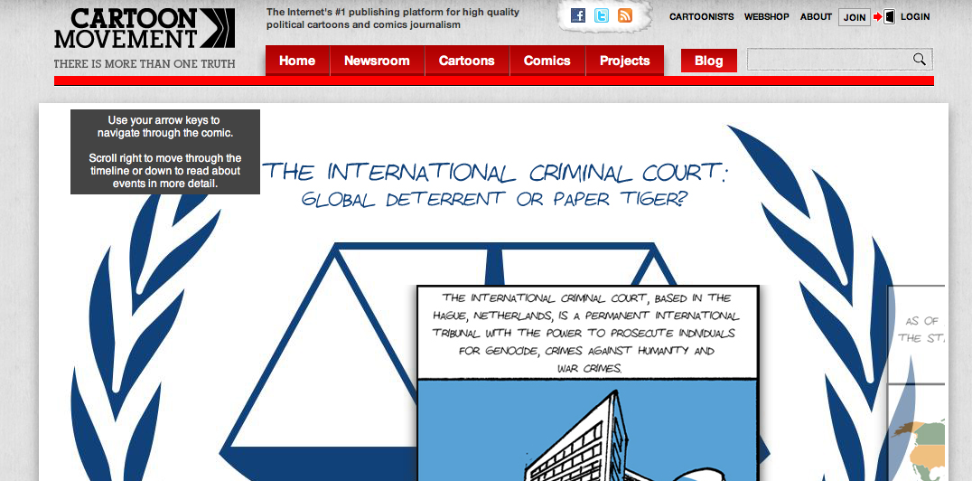 International Criminal Court Comic – Live today on Cartoon Movement