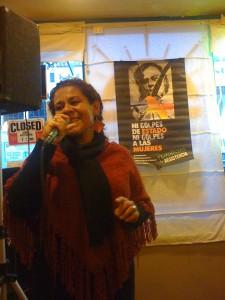 Karla Lara performing at Sunrise Cafe, SFO