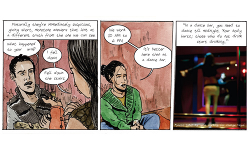 Human Trafficking Comic for Vice
